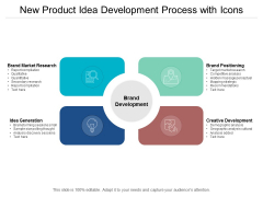 New Product Idea Development Process With Icons Ppt PowerPoint Presentation Layout