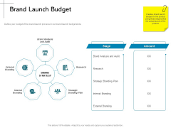 New Product Introduction In The Market Brand Launch Budget Ppt PowerPoint Presentation Gallery Templates PDF