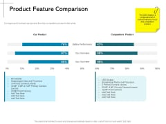 New Product Introduction In The Market Product Feature Comparison Ppt PowerPoint Presentation Summary Background Image PDF