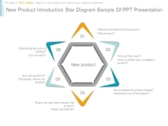 New Product Introduction Star Diagram Sample Of Ppt Presentation