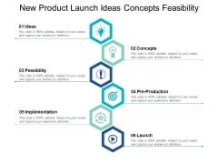 New Product Launch Ideas Concepts Feasibility Ppt PowerPoint Presentation Layouts Background Image