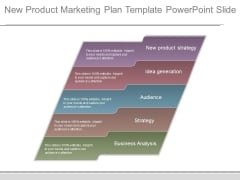 New Product Marketing Plan Template Powerpoint Slide