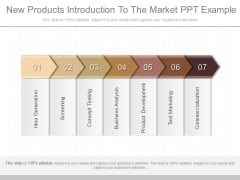 New Products Introduction To The Market Ppt Example