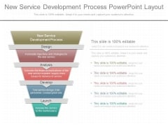 New Service Development Process Powerpoint Layout