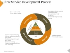 New Service Development Process Ppt PowerPoint Presentation Outline Graphics Template