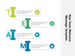 New Team Welcome Message Template Ppt PowerPoint Presentation Model Smartart PDF