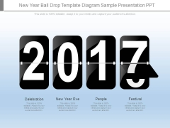 New Year Ball Drop Template Diagram Sample Presentation Ppt