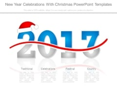 New Year Celebrations With Christmas Powerpoint Templates