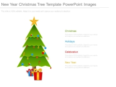 New Year Christmas Tree Template Powerpoint Images