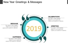New Year Greetings And Messages Ppt PowerPoint Presentation Pictures Outline