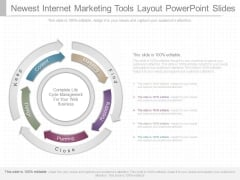 Newest Internet Marketing Tools Layout Powerpoint Slides