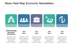 News Heat Map Economic Newsletters Ppt PowerPoint Presentation Infographics Microsoft