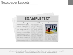 News Paper Design For Business News Powerpoint Slides