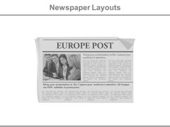 News Paper Design For Europe Post Powerpoint Slides