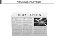 News Paper Diagram And Press Release Powerpoint Slides