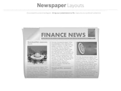 News Paper Diagram With Finance News Powerpoint Slides
