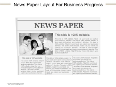 News Paper Layout For Business Progress Ppt PowerPoint Presentation Shapes