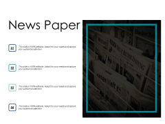 News Paper Planning Strategy Ppt PowerPoint Presentation Infographics Layouts