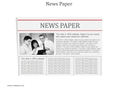 News Paper Ppt PowerPoint Presentation Design Templates