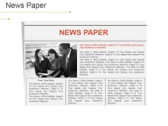 News Paper Ppt PowerPoint Presentation File Slides