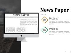 News Paper Ppt PowerPoint Presentation Ideas Graphics Design