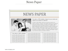 News Paper Ppt PowerPoint Presentation Ideas