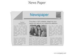 News Paper Ppt PowerPoint Presentation Influencers