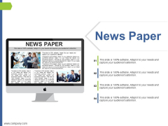 News Paper Ppt PowerPoint Presentation Infographics Graphics Tutorials