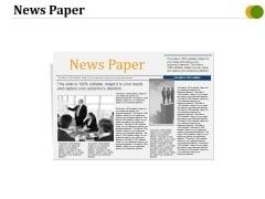 News Paper Ppt PowerPoint Presentation Inspiration Portrait