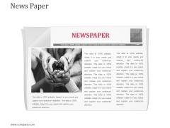 News Paper Ppt Powerpoint Presentation Model Smartart