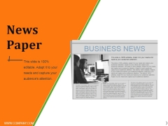 News Paper Ppt PowerPoint Presentation Slides Display
