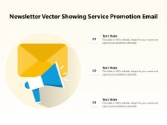 Newsletter Vector Showing Service Promotion Email Ppt PowerPoint Presentation File Introduction PDF