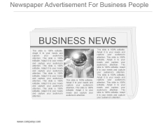 Newspaper Advertisement For Business People Powerpoint Images