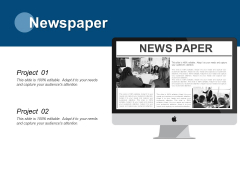 Newspaper And Project Ppt PowerPoint Presentation Layouts Slide Portrait