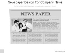 Newspaper Design For Company News Ppt PowerPoint Presentation Slide Download