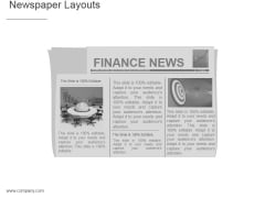 Newspaper Layouts Ppt PowerPoint Presentation Microsoft