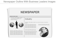 Newspaper Outline With Business Leaders Images Ppt PowerPoint Presentation Graphics