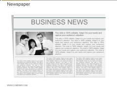Newspaper Ppt PowerPoint Presentation Backgrounds