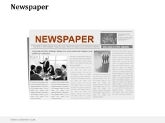 Newspaper Ppt PowerPoint Presentation Example File