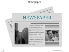Newspaper Ppt PowerPoint Presentation Examples