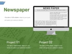 Newspaper Ppt PowerPoint Presentation File Microsoft