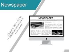 Newspaper Ppt PowerPoint Presentation Gallery Graphics Tutorials