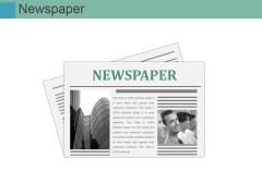 Newspaper Ppt PowerPoint Presentation Gallery Slide
