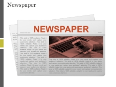 Newspaper Ppt PowerPoint Presentation Icon Layouts