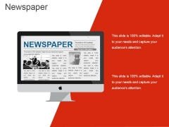 Newspaper Ppt PowerPoint Presentation Ideas Demonstration