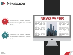 Newspaper Ppt PowerPoint Presentation Ideas Pictures
