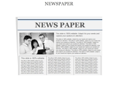 Newspaper Ppt PowerPoint Presentation Infographic Template Show