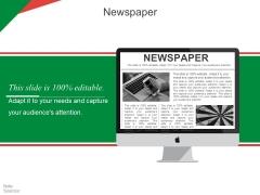 Newspaper Ppt PowerPoint Presentation Model Inspiration