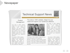 Newspaper Ppt PowerPoint Presentation Outline