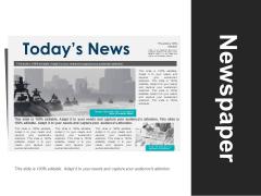 Newspaper Ppt PowerPoint Presentation Portfolio Design Inspiration